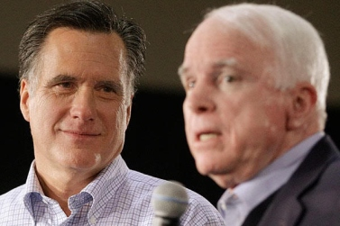 Mitt Romney longing gaze John McCain